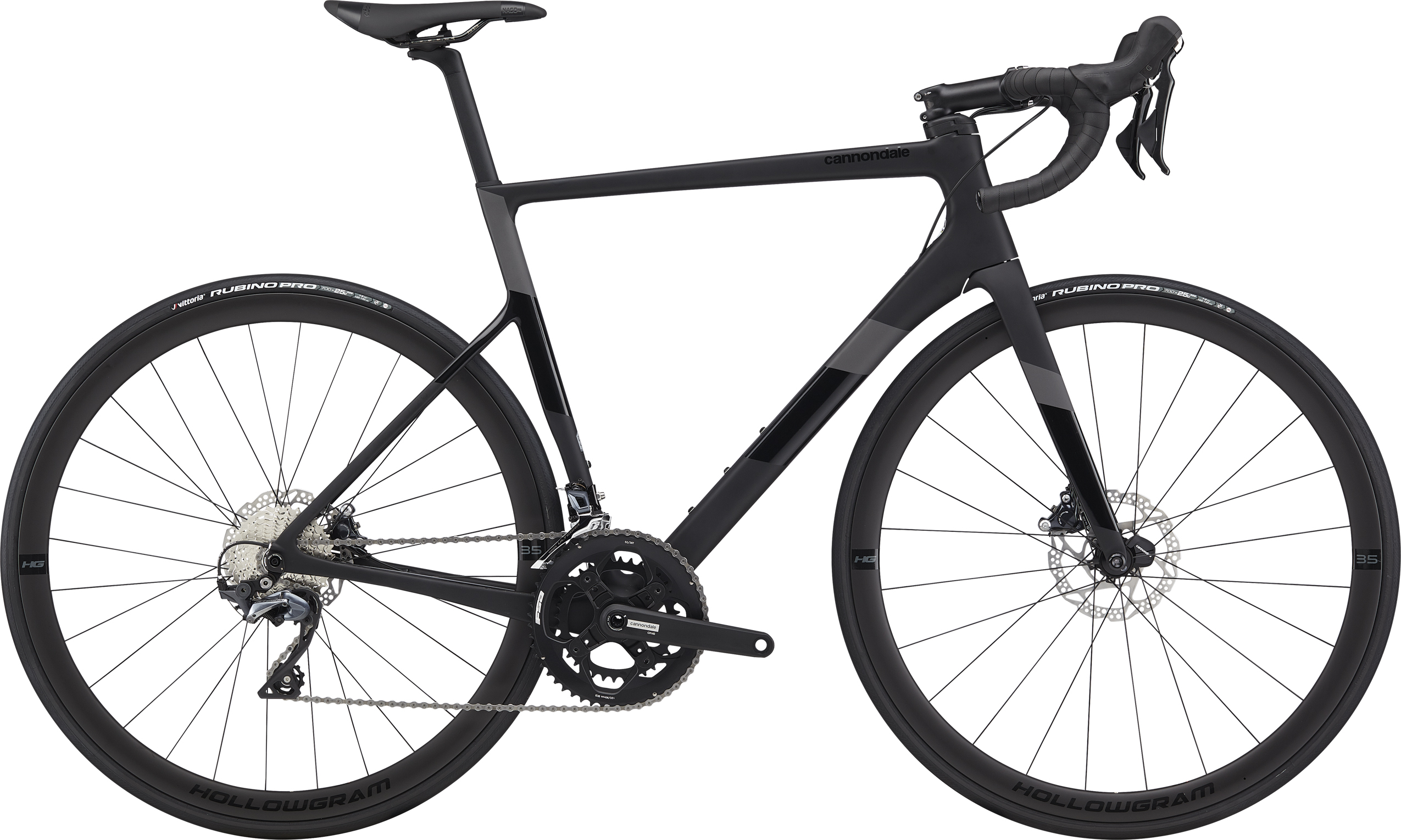 2020 Cannondale SuperSix EVO Carbon DISC ULTEGRA Road Bike : Mat Black
