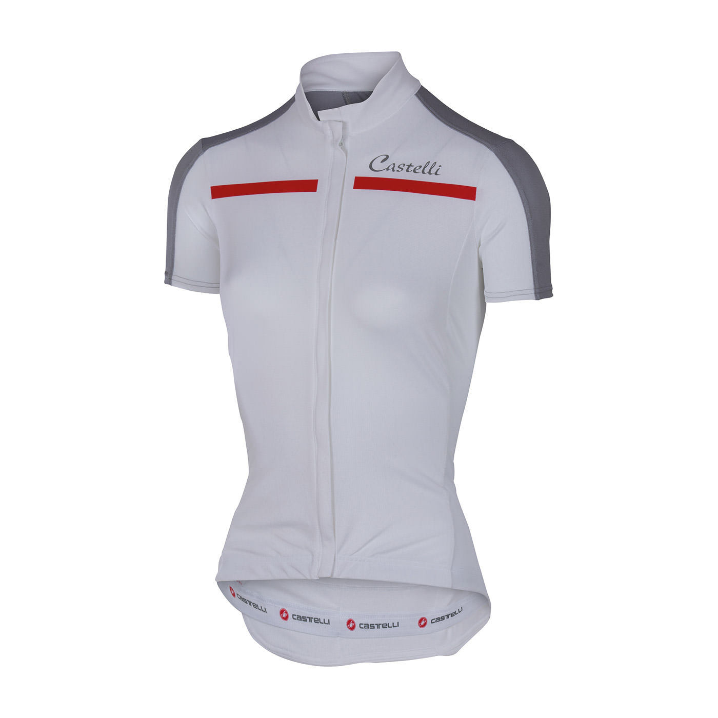 Castelli Ispirata Womens Cycling Jersey FZ   White Grey - 700 95d51dfc4