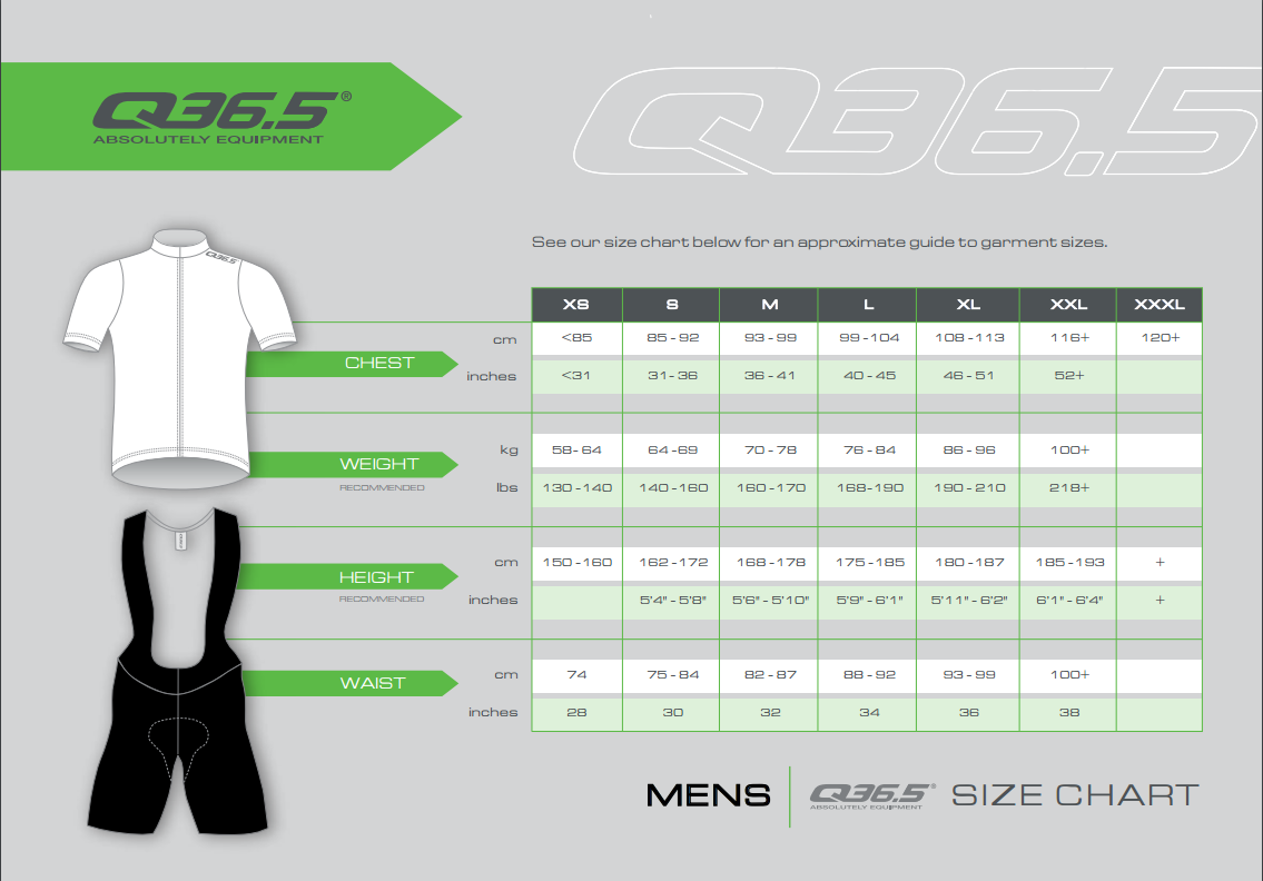 Q365 Size Guide