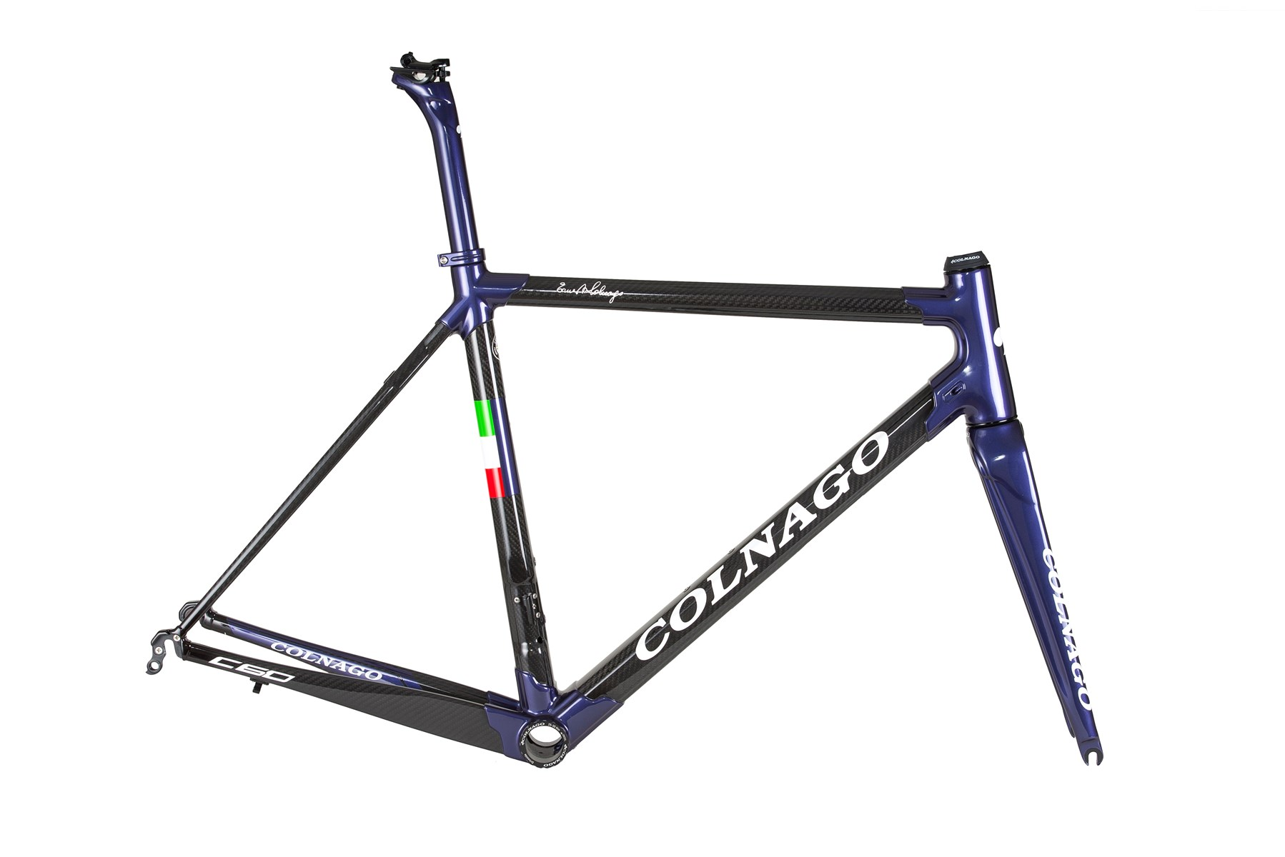 Colnago C60 Dual Routed Frameset : Gloss Purple / Carbon PLOD - 700