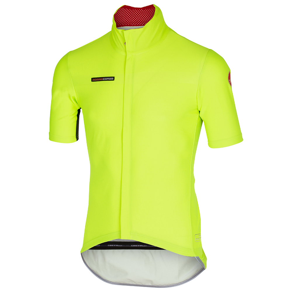 Castelli Perfetto Light Short Sleeve Jersey   Yellow Fluo - 700 bf7167a73