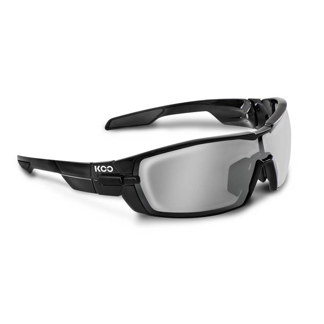 Koo OPEN Sunglasses: Black with Smoke Mirror Lens : SMALL