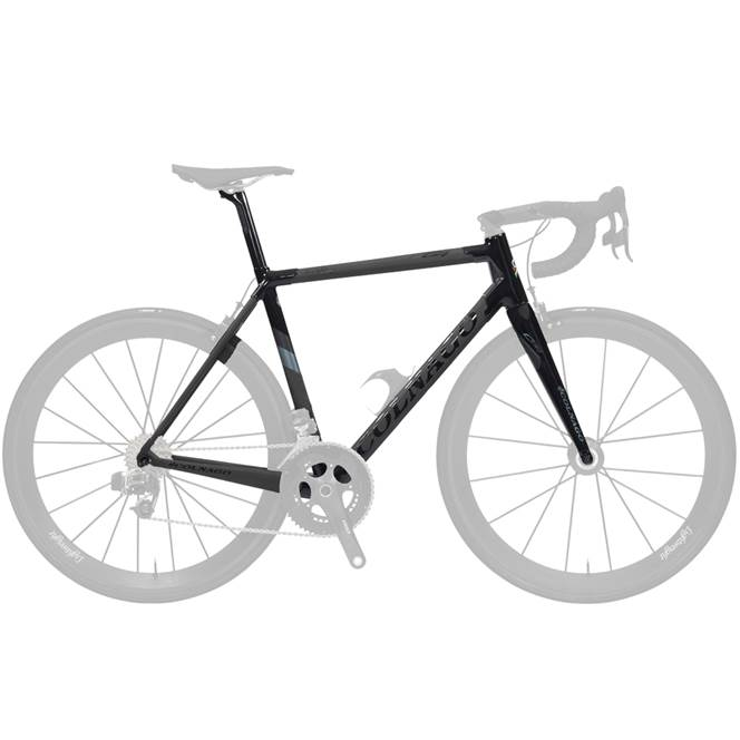 Colnago C64 DISC FRAME : HIGH Geometry : Matte Black Gloss Black - 700