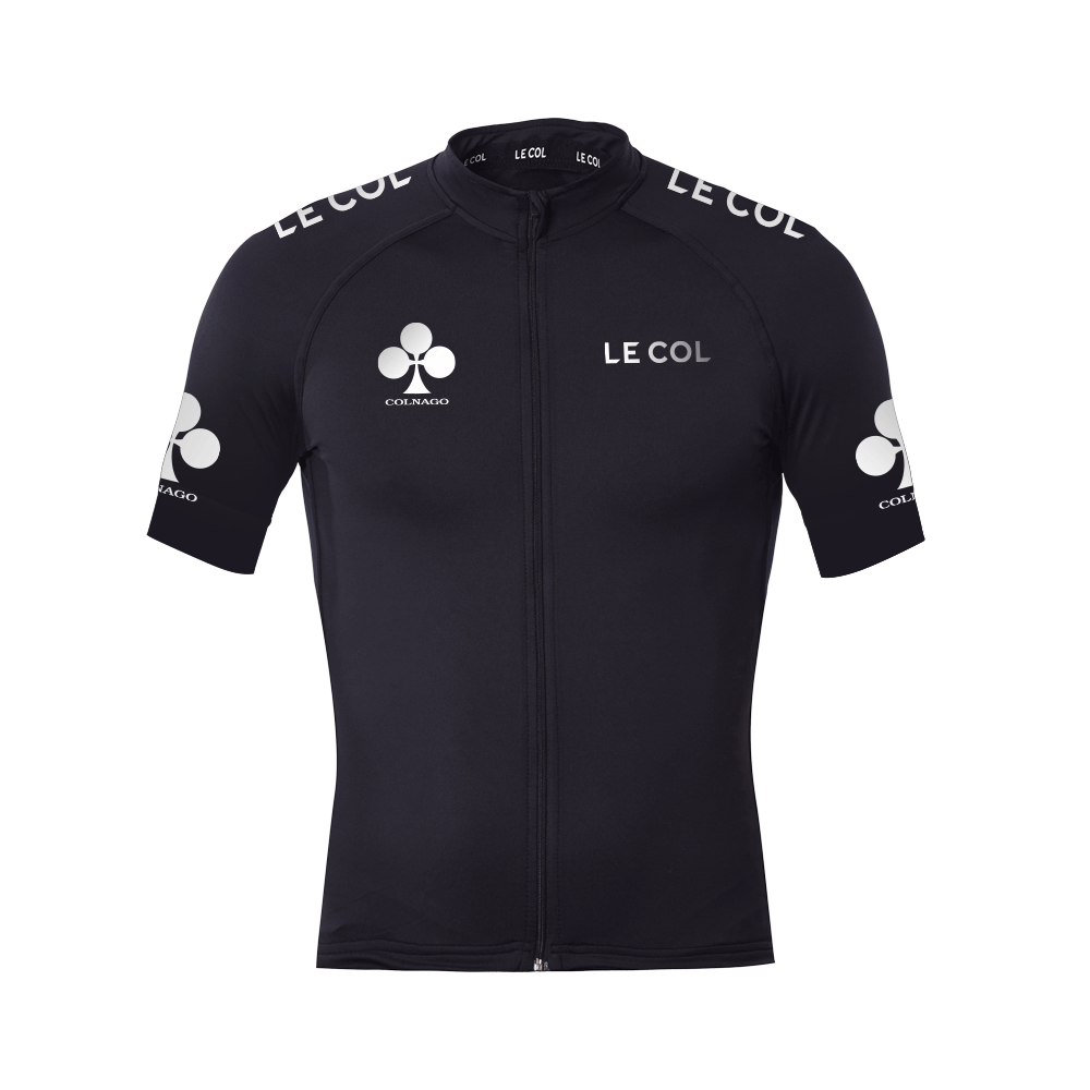 Colnago x Le Col Mens Short Sleeve Cycling Jersey   Black   White - 700 556614e09