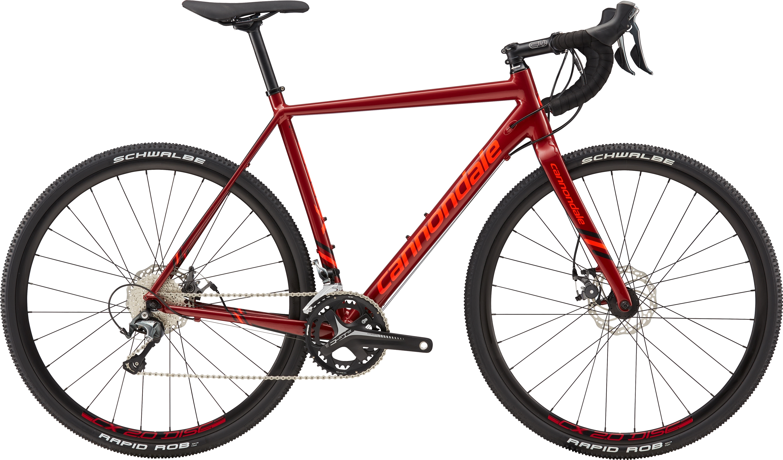 2018 Cannondale CAADX Tiagra : Aluminium Cyclocross Bike : Red - 700