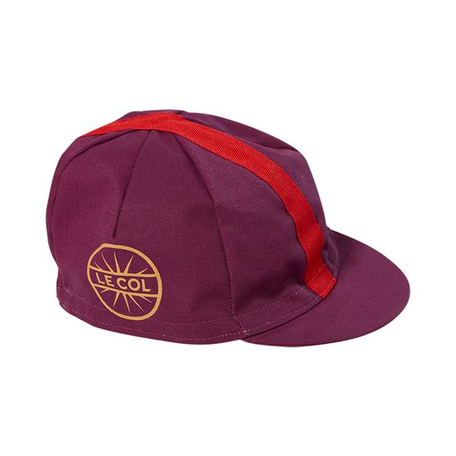 Le Col Cotton Cycling Cap   Red   Gold - 700 43f8aaf94