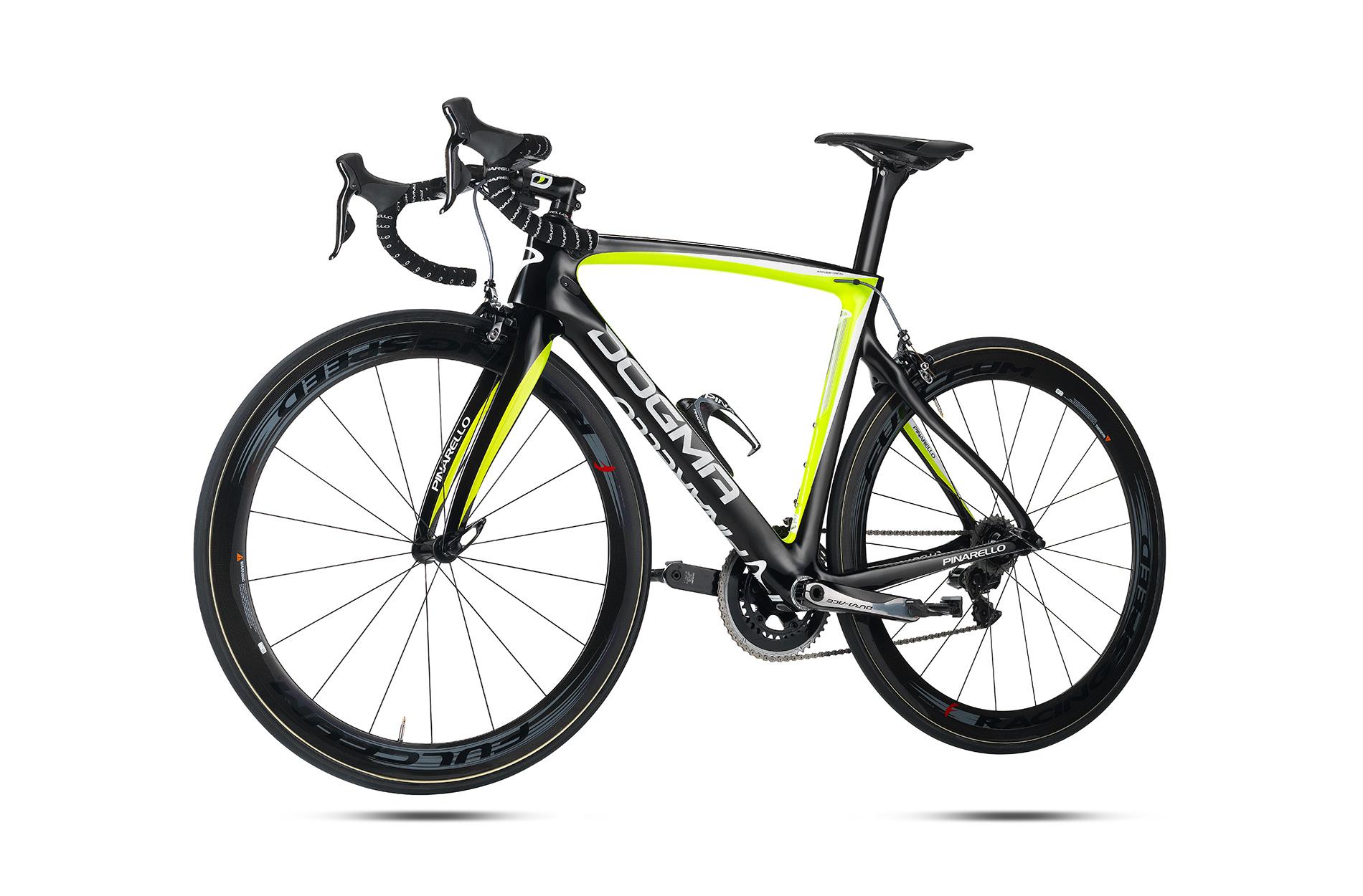 2015 Pinarello Dogma F8 FRAMESET : 953 Black / Fluo Yellow - 700