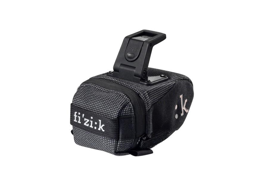 NEW Fizik kli:k Saddle Bag with ICS Clip Small Anthracite Black klik