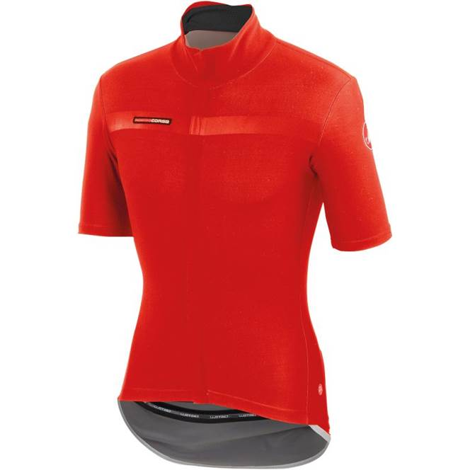 Castelli Perfetto Light Mens Short Sleeve Cycling Jersey Red