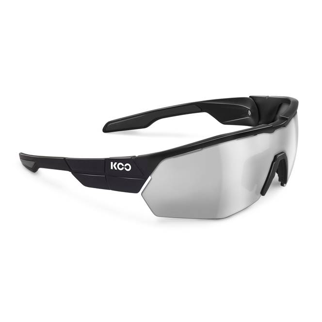 Koo OPEN CUBE Sunglasses : Black with Smoke Mirror Lens