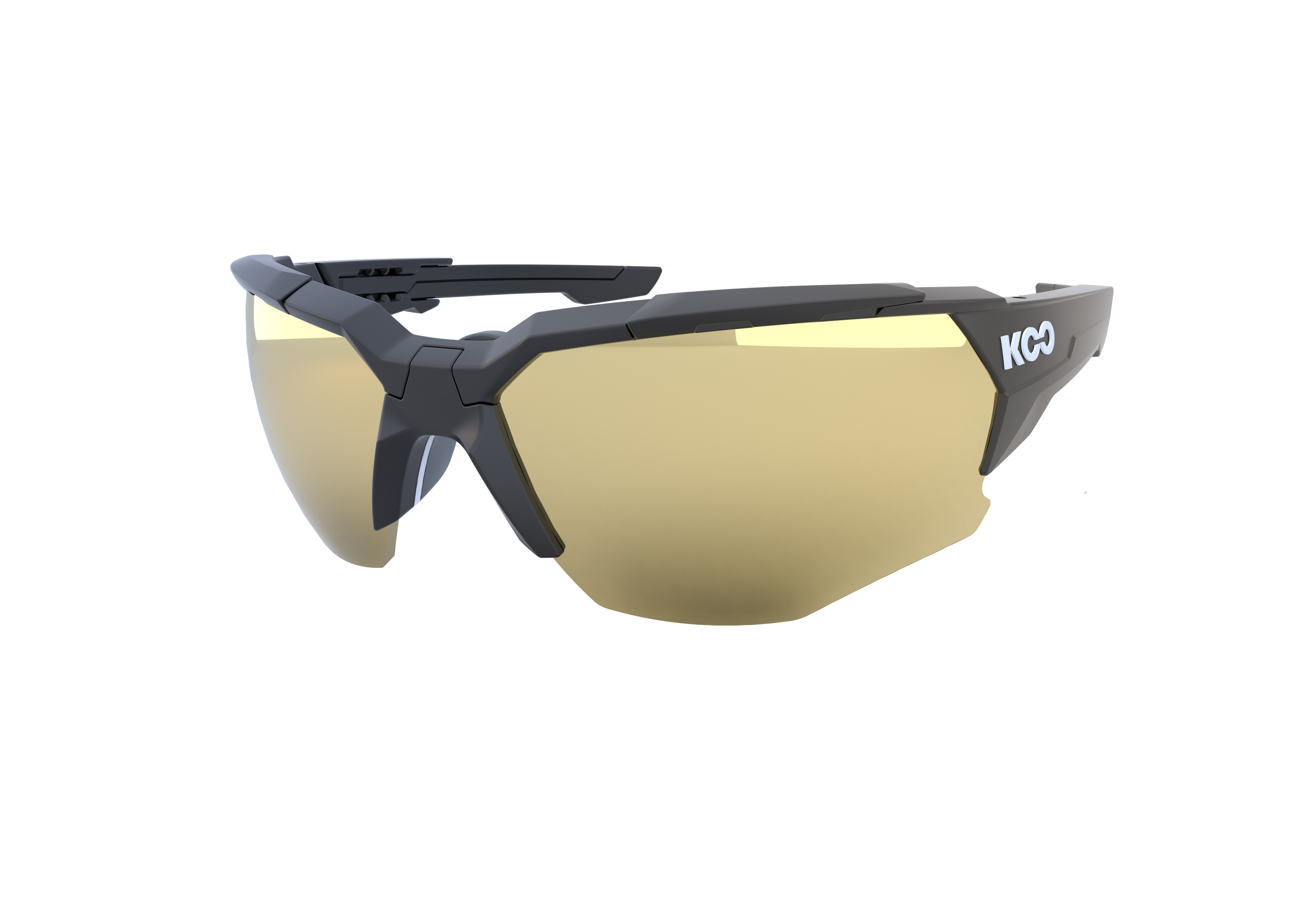f7605550beb5 Koo ORION Cycling Sunglasses : Matte Black - Milky Gold - 700