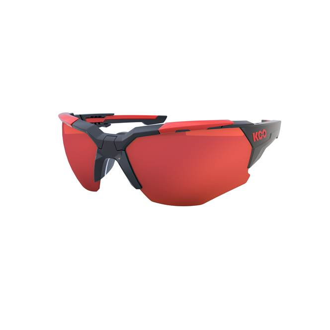 Koo ORION Cycling Sunglasses : Black / Red - Red Mirror