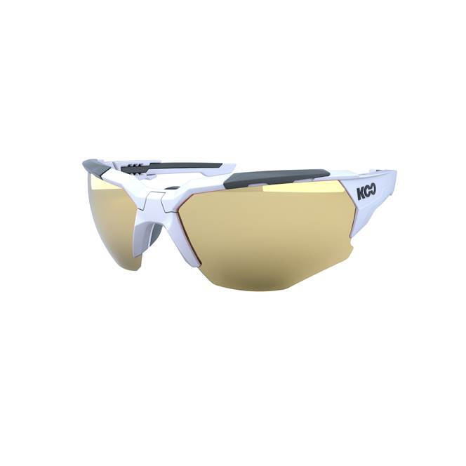 Koo ORION Cycling Sunglasses : White / Black - Milky Gold