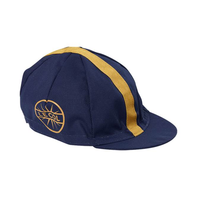 Le Col Cotton Cycling Cap   Navy   Gold - 700 53768f6a0