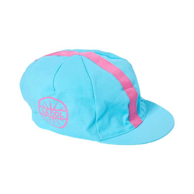 Le Col Womens Cotton Cycling Cap   Sky Blue   Pink - 700 9a18122db