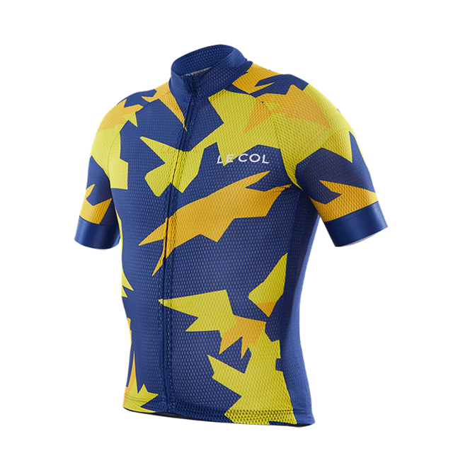 Le Col PRO AIR Jersey : Battleship : Navy / Yellow