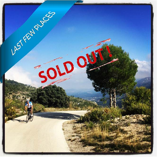 2019 - Costa Blanca : 4-DAY CYCLING WEEKEND : 2nd - 5th May : Deposit