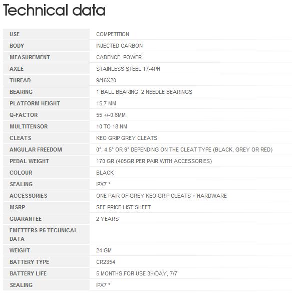 Look Keo Power Pedals - Tech Spec