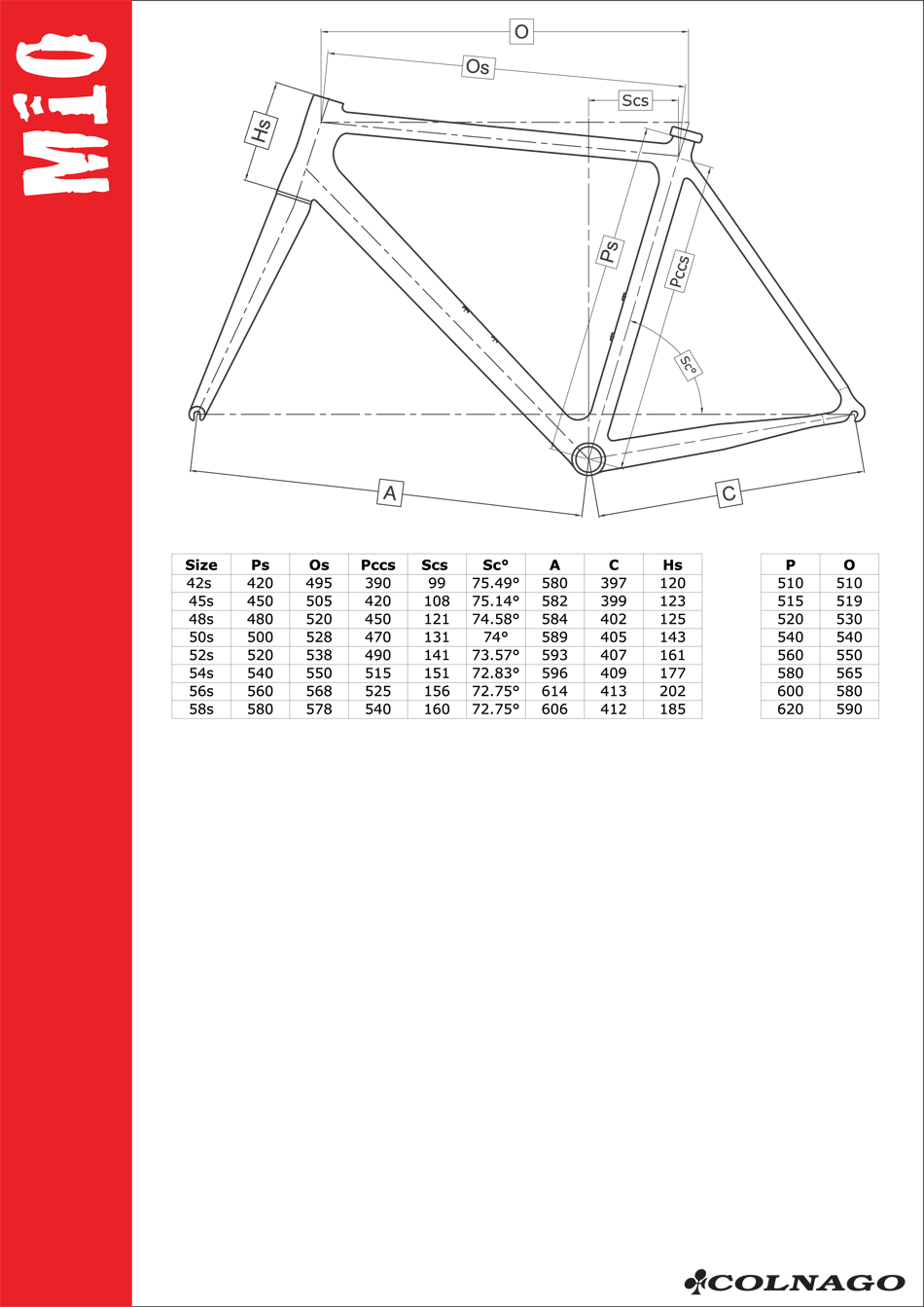 Colnago M10 (MASL) Frame - 700