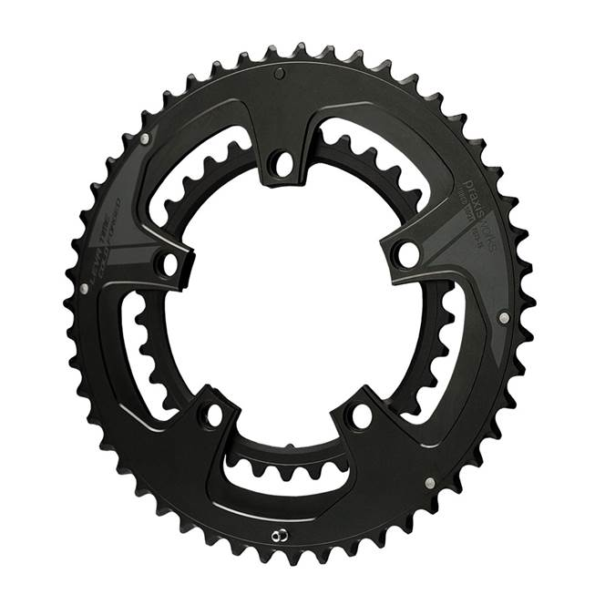 Praxis BUZZ Chainrings : STANDARD 53-39 : Black