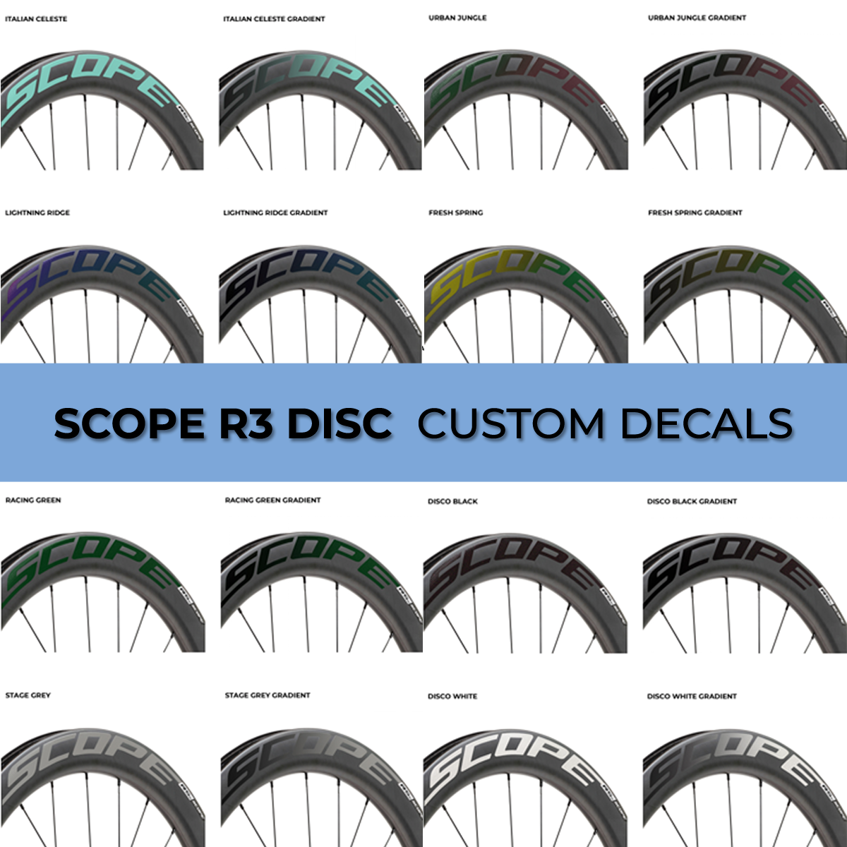 Giant Cycle Wheel Decal Sticker Carbon Wheel Stickers Giant Wheel 6 sizes avail.