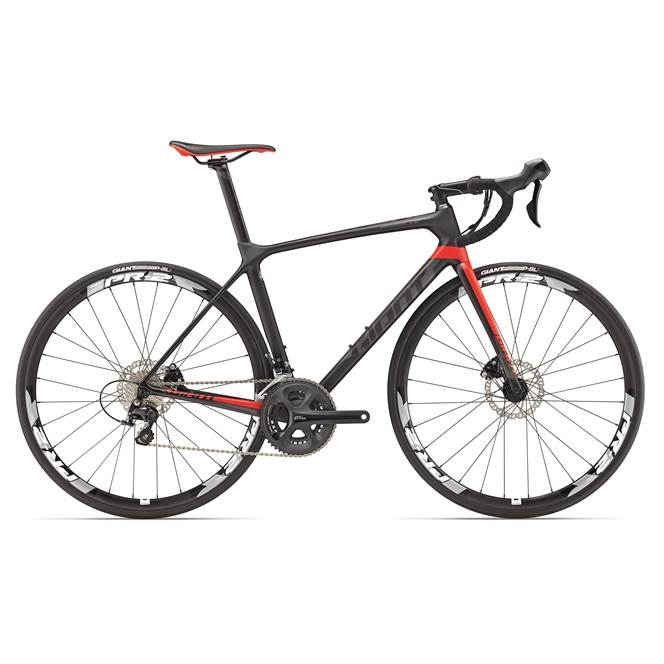 2017 Giant TCR Advanced 2 DISC : Carbon / Black / Red