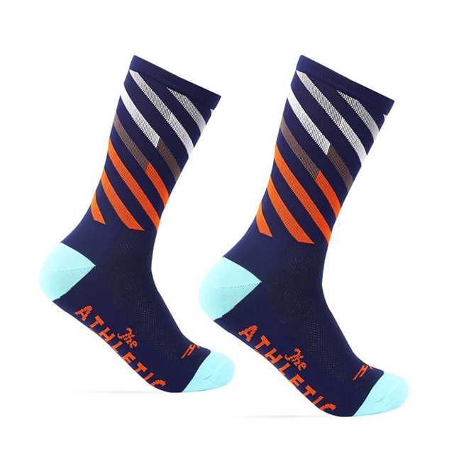 The Athletic Mt. Fuji Ekiden Sock : OG Navy / Orange