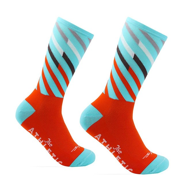 The Athletic Mt. Fuji Ekiden Sock : OG Orange / Turquoise