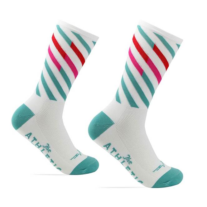The Athletic Mt. Fuji Ekiden Sock : Summer White Candy Stripe