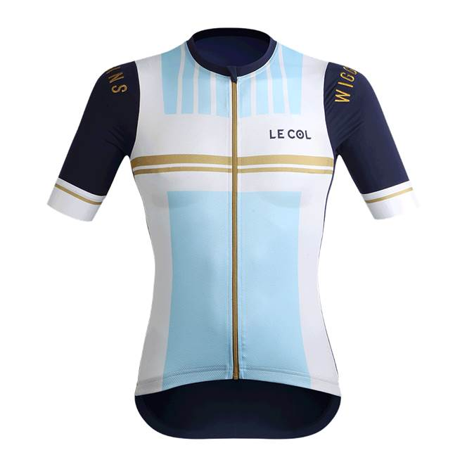 Le Col by Wiggins : WOMENS PRO Cycling Jersey : White / Light Blue