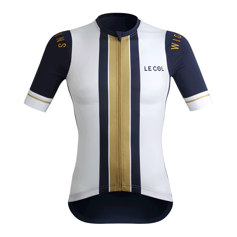 Le Col by Wiggins   WOMENS PRO Cycling Jersey   White   Navy   Go - 700 a6fb11e3f