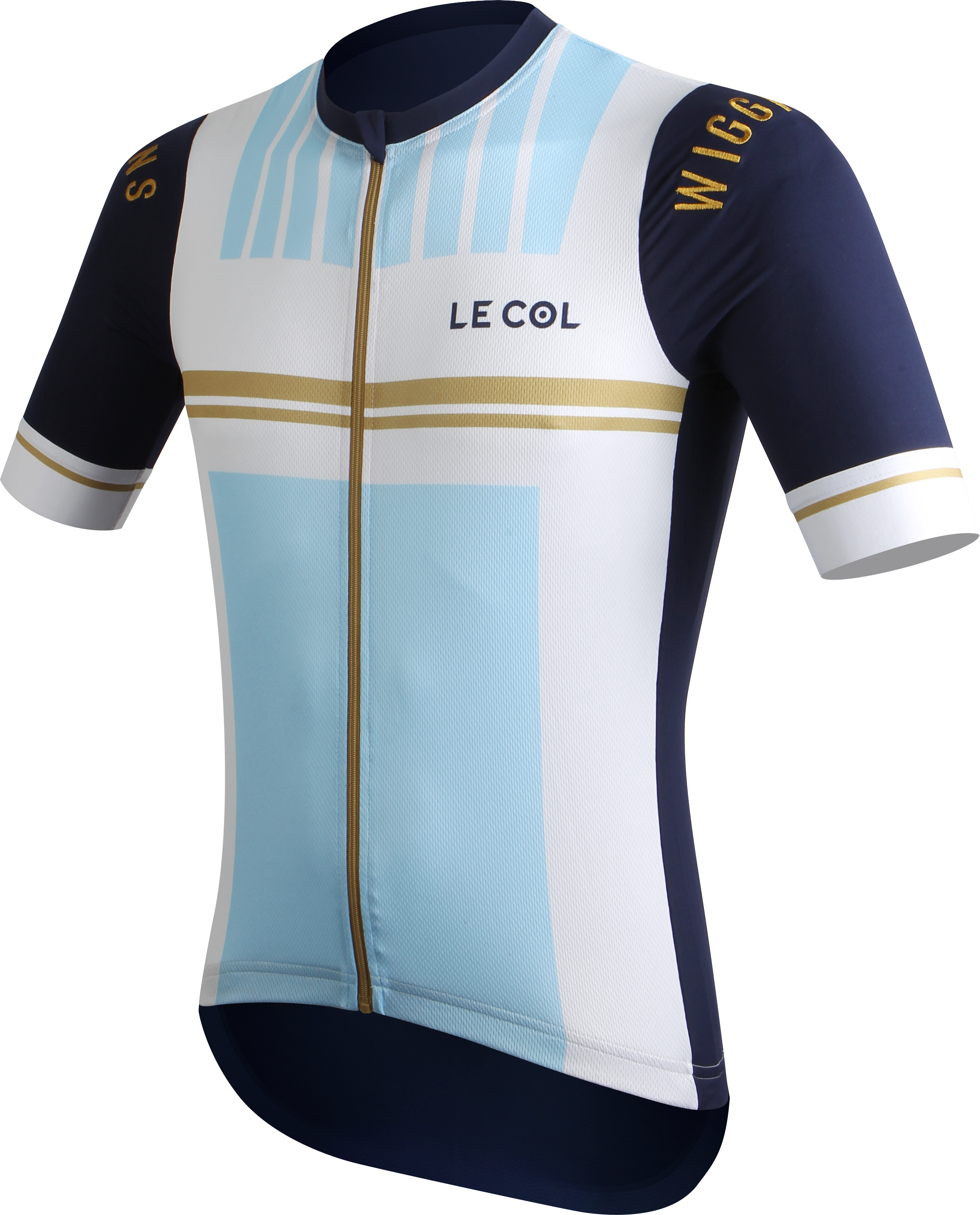 Le Col by Wiggins   PRO Mens Cycling Jersey   White   Light Blue - 700 210b65dfc