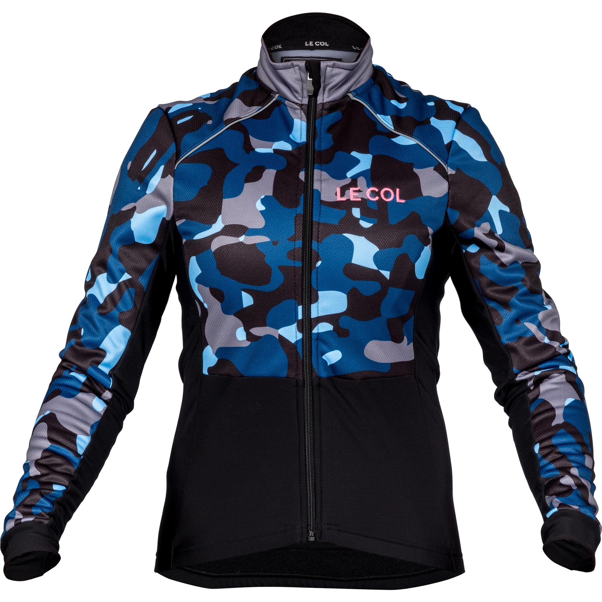 af48731af Le Col Womens Sport Winter Jacket   Blue Camo   Black - 700